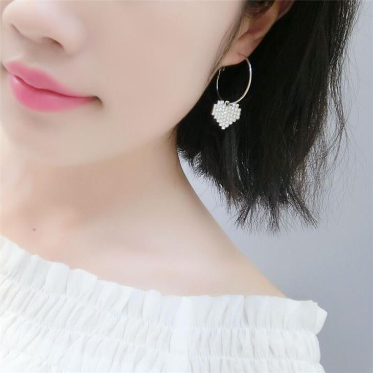 Lovely Plating Love Heart Earrings