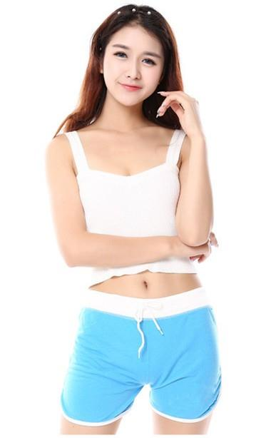 Lovely Show-slim Sport Shorts (Blue)