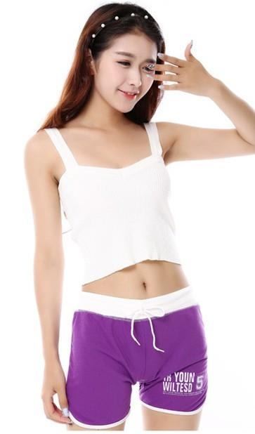 Lovely Show-slim Sport Shorts (Purple)