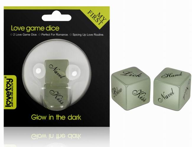 LOVETOY GLOW LOVE GAME DICE - ENGLISH-1unit