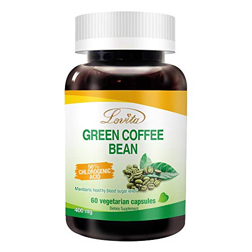 Lovita Green Coffee Bean Extract for Weight Loss 1600mg, Healthy Fat Burner Su