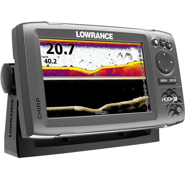 Lowrance Hook 7x Chirp Sonar Fishfinder with Downscan Transducer