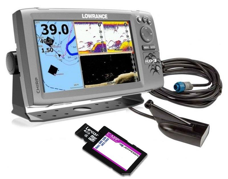 Lowrance Hook 9 GPS Chartplotter Chirp Sonar Fishfinder with Cmap Card