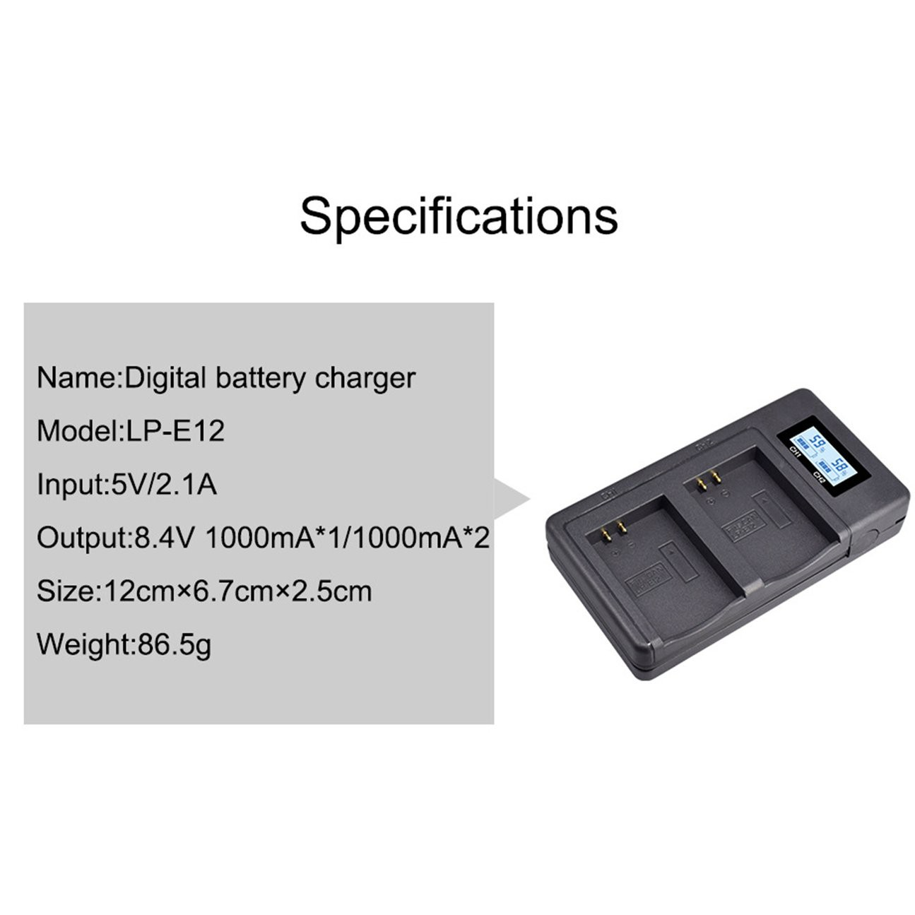 Lp-e12 Battery For Canon Eos M10 M50 100d Micro Single Camera dgtl Cha