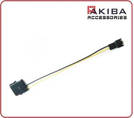 LP4 Molex 4p Male to 3p Male Fan Power Cable