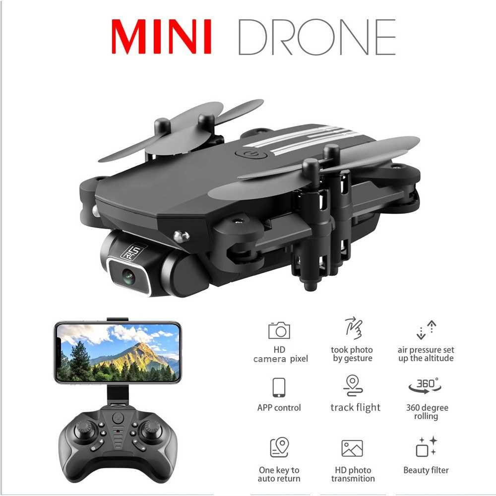 LS-MIN Mini Drone RC Quadcopter 1080P Camera 13mins Flight Time 360\u00b0 Flip
