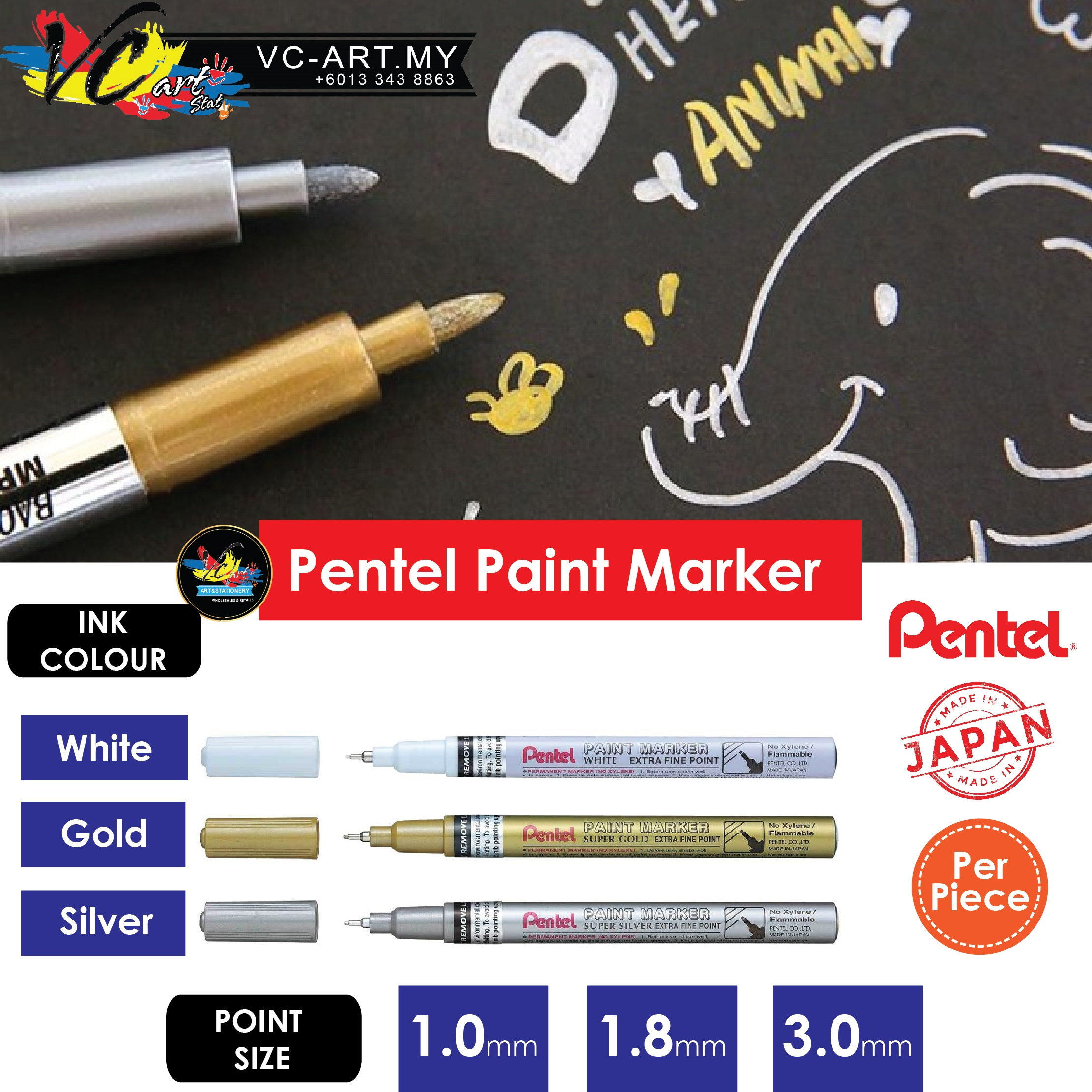 6431dbcf654b5 VC-ART MY Pentel Paint Marker 1 (end 8 25 2021 12 00 AM)
