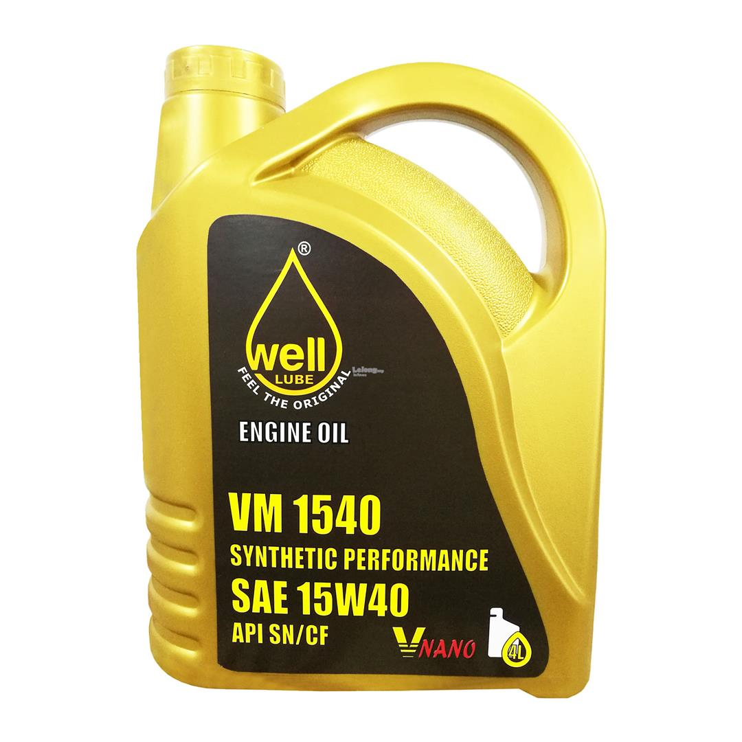 Well Lube Synthetic Performance with V-Nano Engine Oil SAE 15W40 (4L)