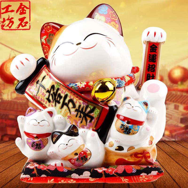 LUCKY FORTUNE CAT 11˝ WAVING 千客万来