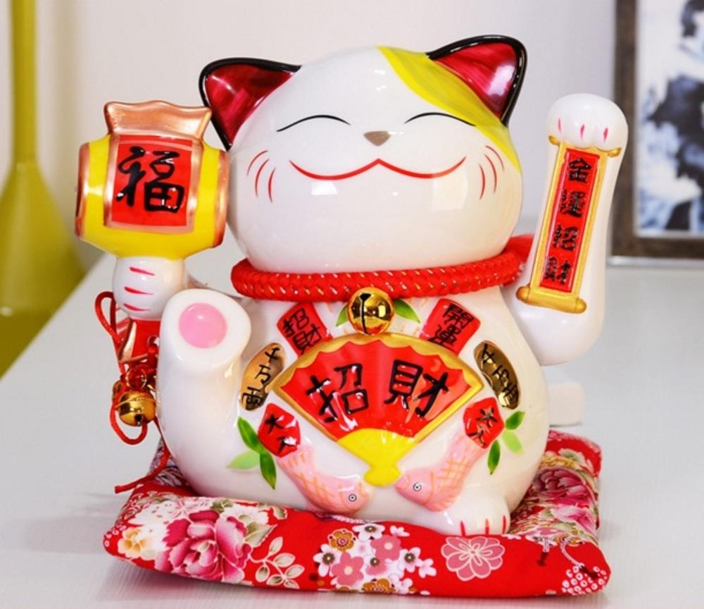 LUCKY FORTUNE CAT 9' 招财招福 HAND WAVING