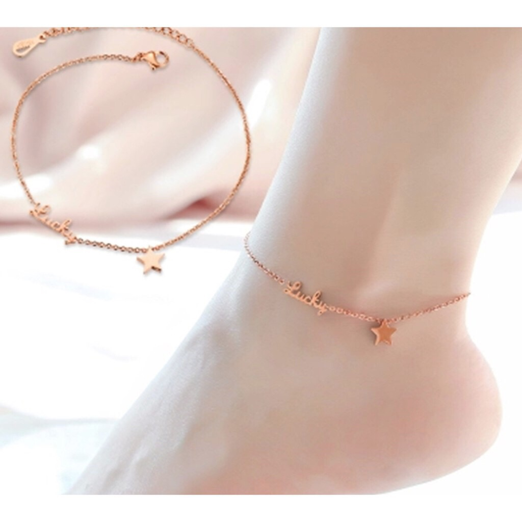 bead anklet rose claire gold chain s us