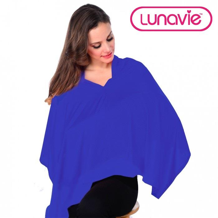 Lunavie Breastfeeding/Nursing Cover (Plain Blue)