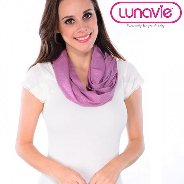 Lunavie Breastfeeding/Nursing Cover Print Purple