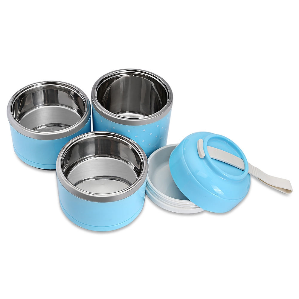 Lunch Boxes - Worthbuy Thermal Lunch Box Stainless Steel Food Containe..
