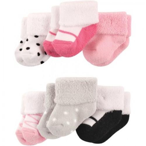 10c2a77da Luvable Friends Baby Girls Newborn Terry Socks 6-Pack 20624. ‹ ›