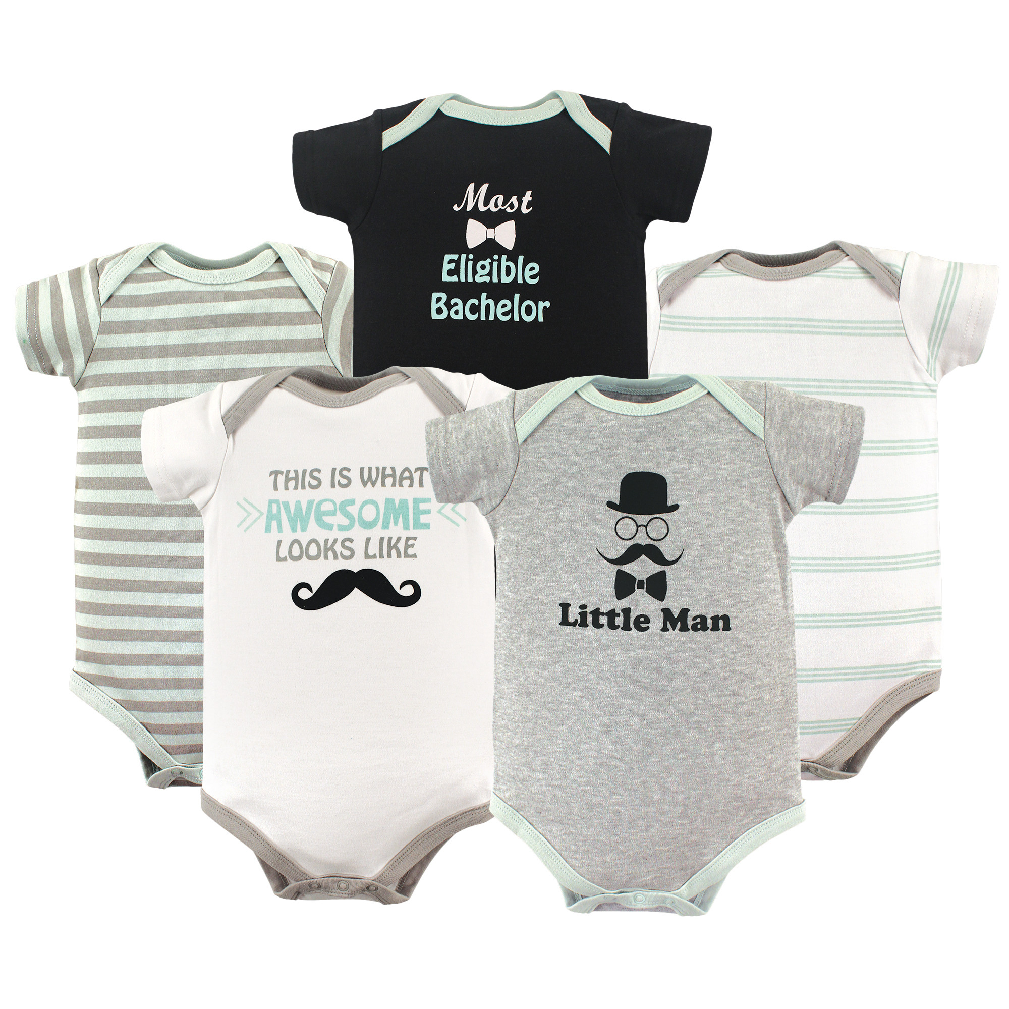 b8f83fd38 Luvable Friends Basics Bodysuits 5 P (end 8 28 2020 4 35 PM)