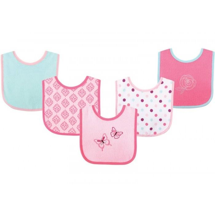 Luvable Friends - Drooler Bibs 5pk (Butterfly) *02331*