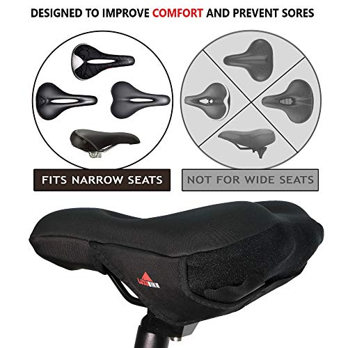 LuxoBike Gel Bike Seat Cover Padded Bicycle Seat Covers for Men – Comfort So