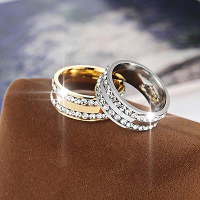 Luxury Diamond Rings Wedding Engagement Accessories