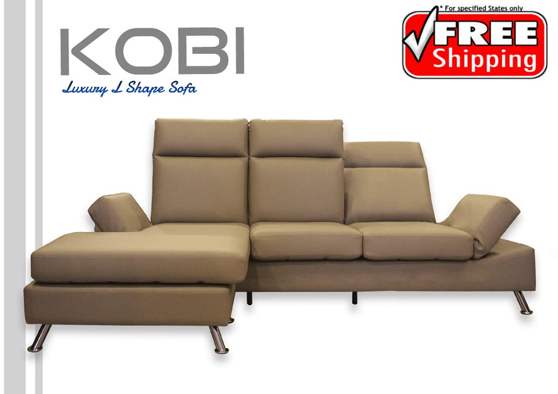 Luxury L Shape Sofa (*Free Delivery)