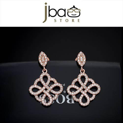 Luxury Micro Pave Zircon Earrings Clover Earring Mother's Day Gift