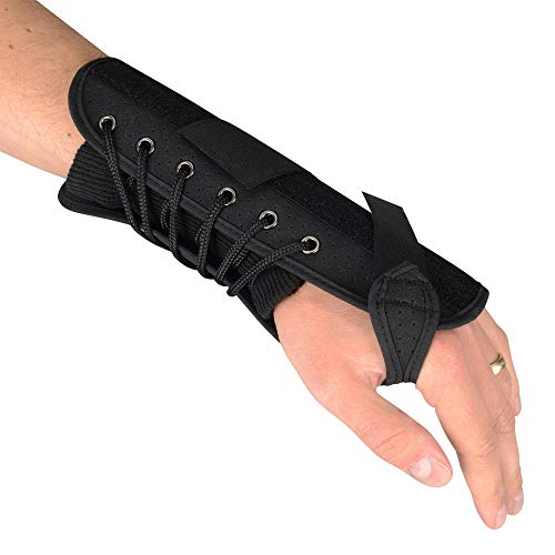 "Luxury Quick Lace 7 "" Compression Splint Support Wrist Brace - Right Hand"
