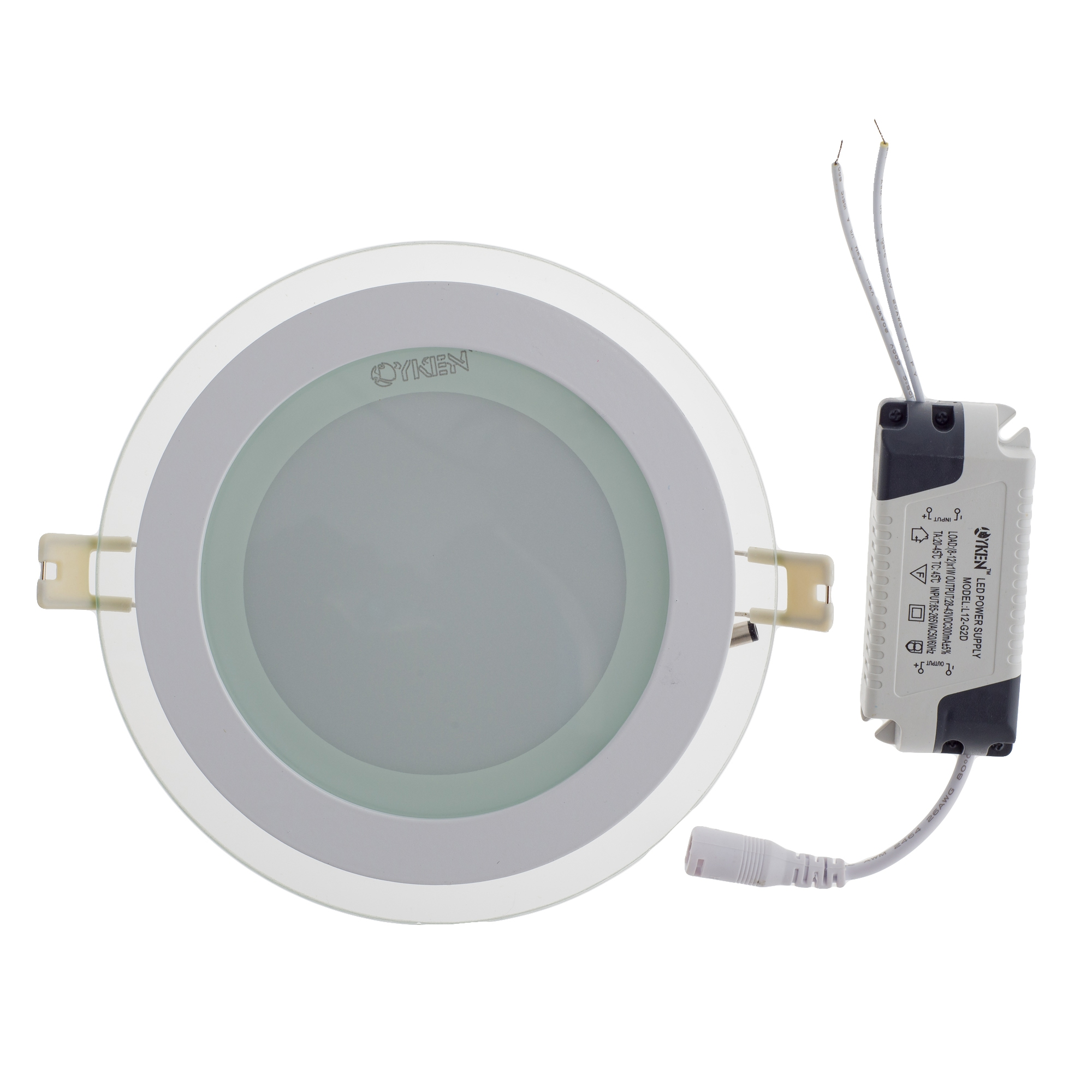 reputable site 25d61 c90ab Lyken GEN-2 L230 12W LED Glass Type Round Downlight - Warm White (6pcs)