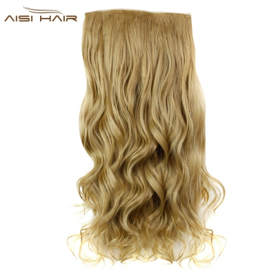 M-11 AISI HAIR Fashion Long Curly Synthetic 5 Clips in Wig Extensions