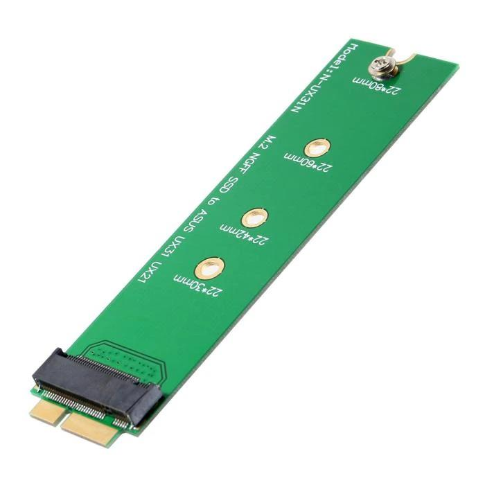 M.2 NGFF SSD to Asus UX31 UX21 Zenbook 18 Pin Adapter Card