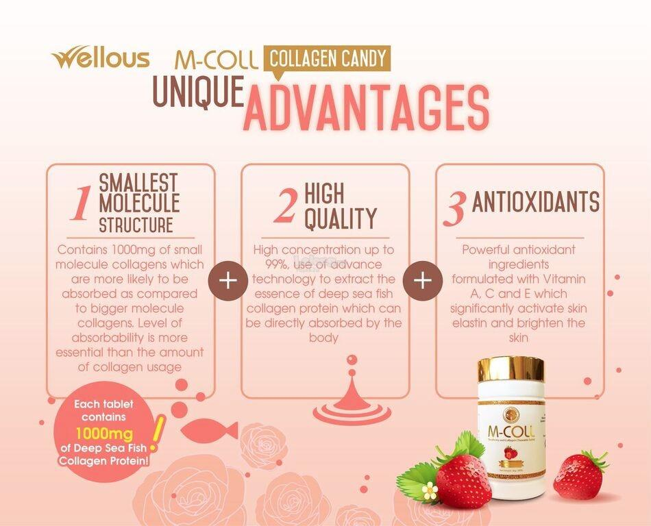 M-Coll Whitening Collagen Candy | Made in Japan (Mcoll,M Coll)