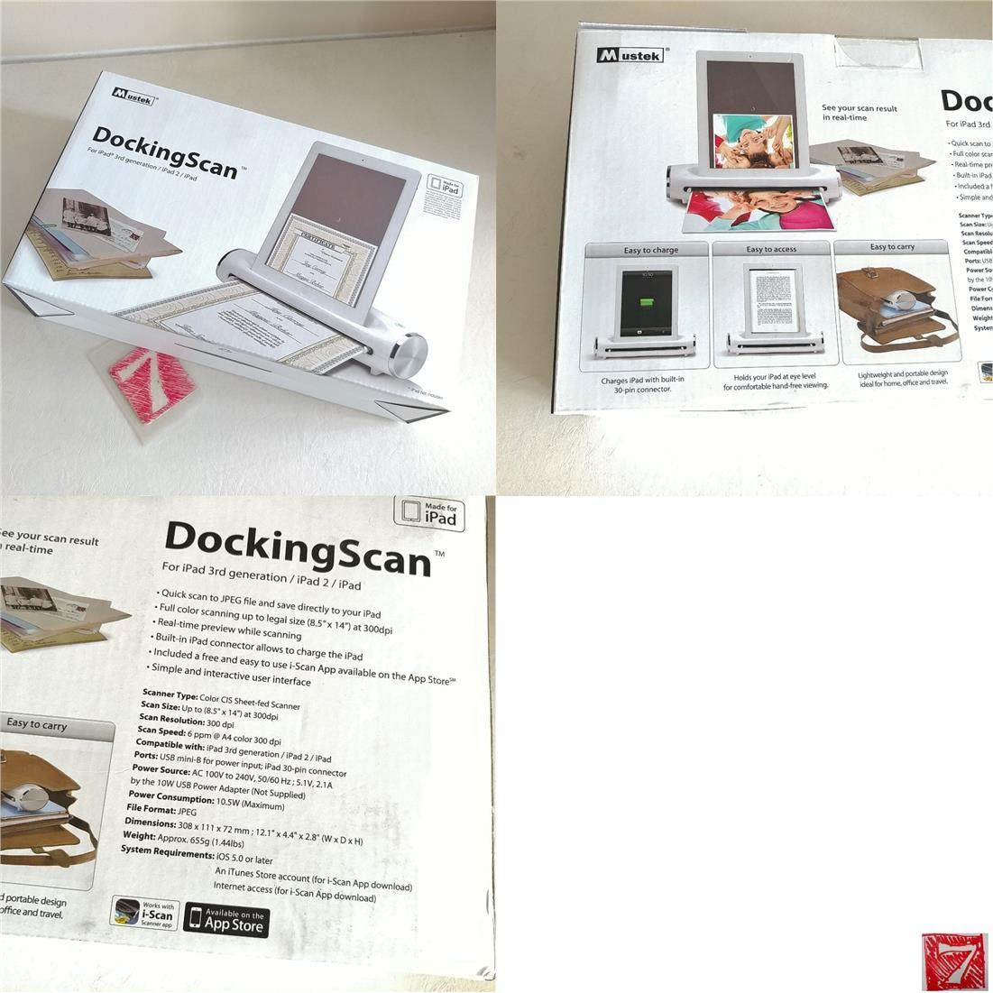 M Ustek S400 Docking Scan For ipad 2 3 i-Scan Rm80