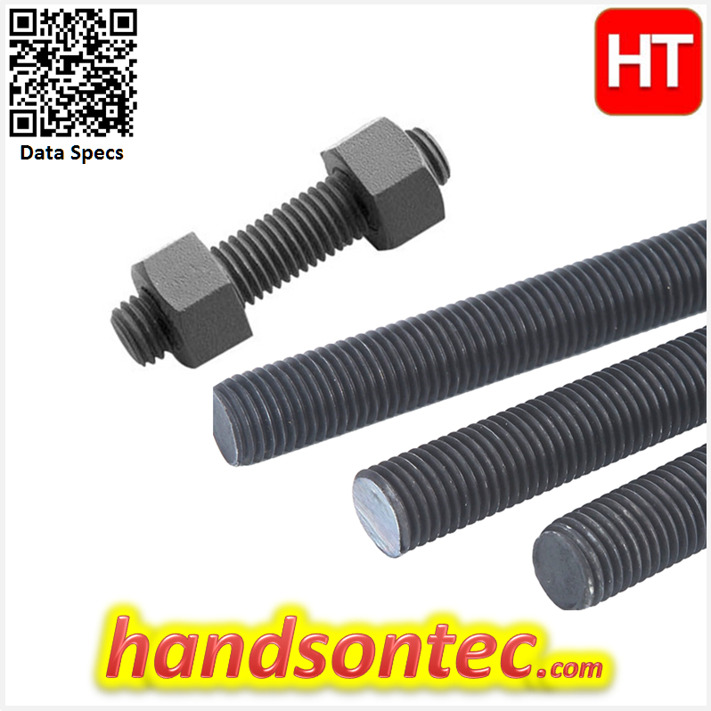M08 L:500mm Metric Size Threaded Rod Stud-304 Stainless Steel