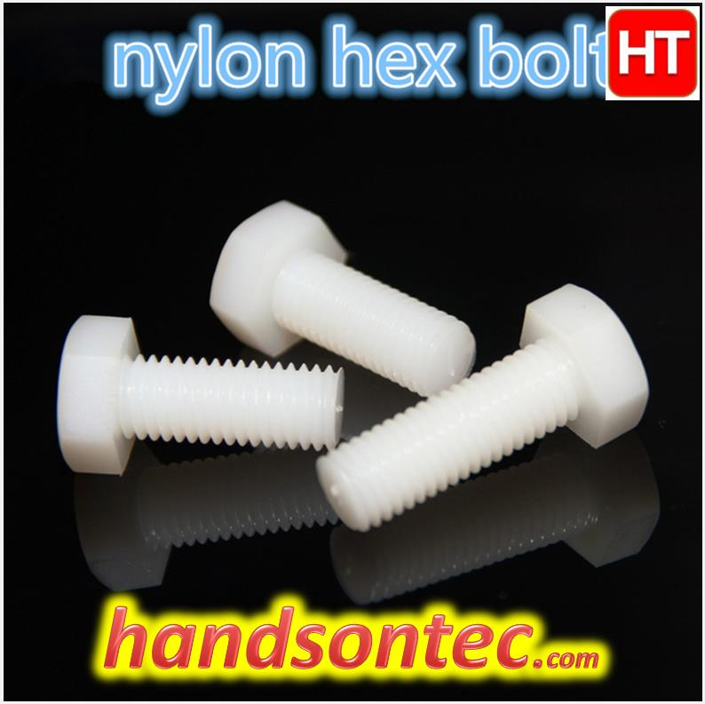 M10x25 Nylon Plastic Hexagon Head Screw~5pcs/pack.