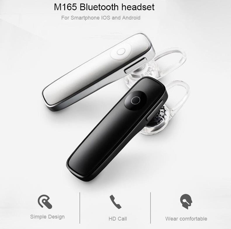 cce81680b55 M165 Wireless 4.1 Bluetooth Earphone Hands-free Stereo Phone Headset. ‹ ›