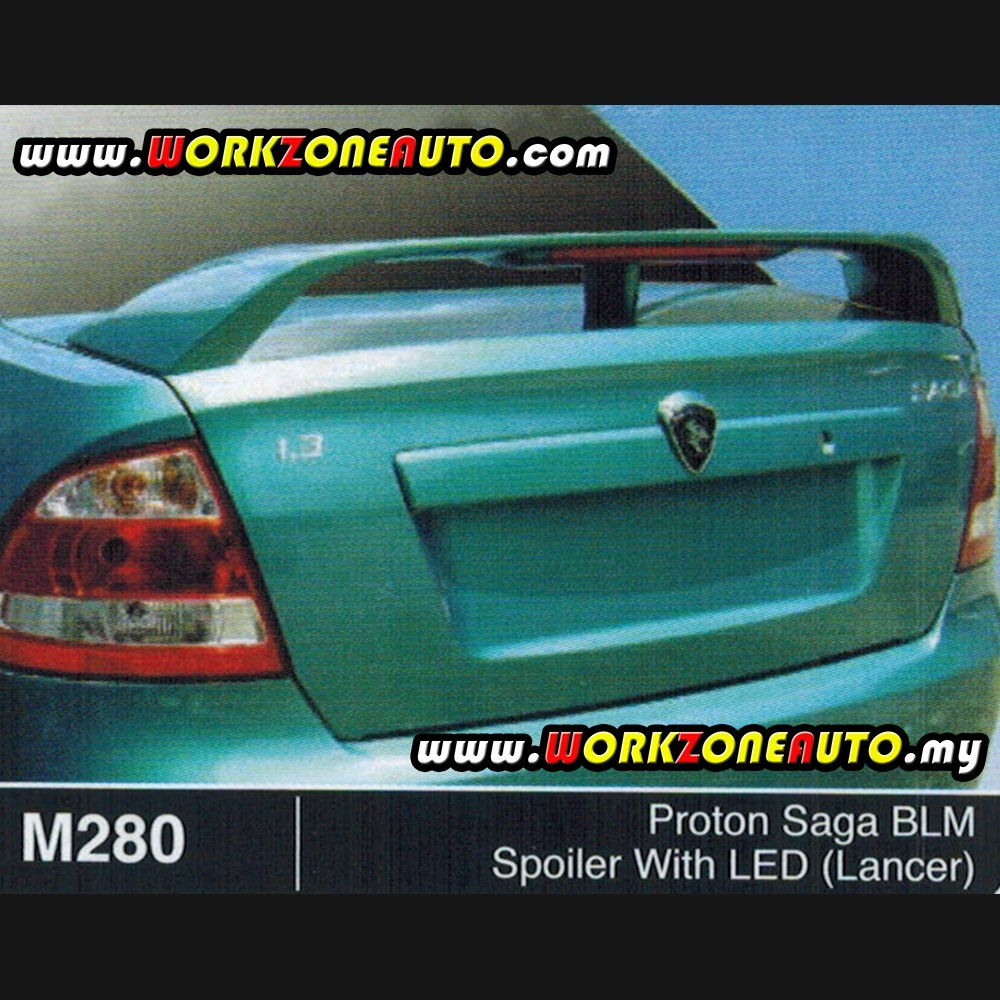 M280 Proton Saga BLM Fiber Spoiler With LED (Lancer)