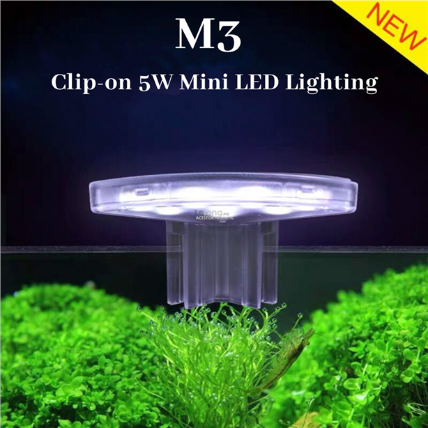 M3 LED Mini Aquarium Clip Light 5W (For Nano Tank Below Below 25cm)