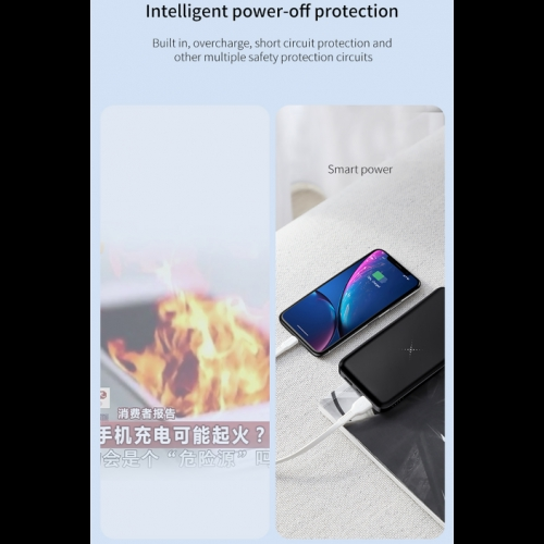 M36 10000mAh Dual USB Wireless Charging Power Bank
