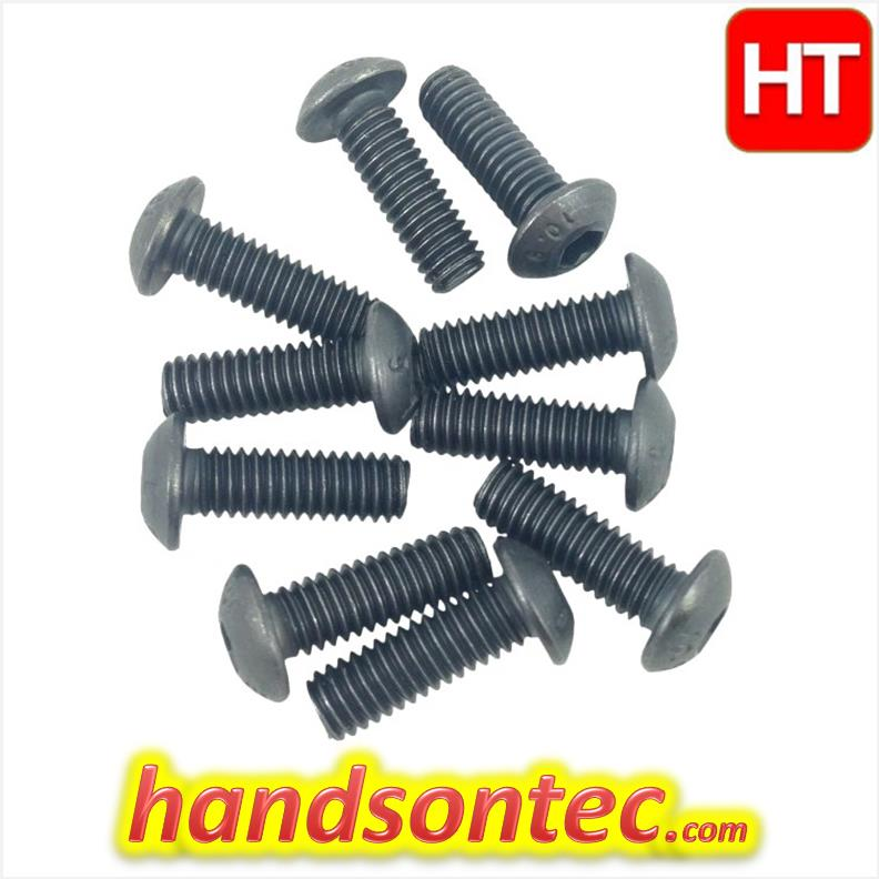 M5 Series Black Carbon Hex Button Head Screw/10-pcs