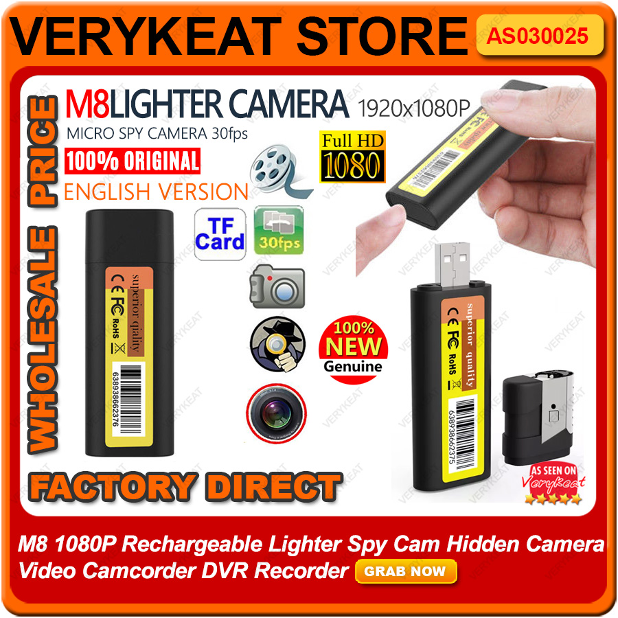 M8 1080P Lighter Spy Cam Hidden Camera Video Camcorder DVR Recorder