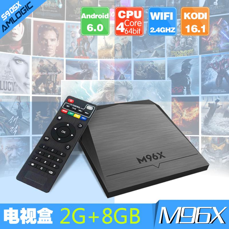 M96X Android 6.0 Amlogic S905X Smart TV BOX 2g+8g 4K Ultra HD TOP BOX