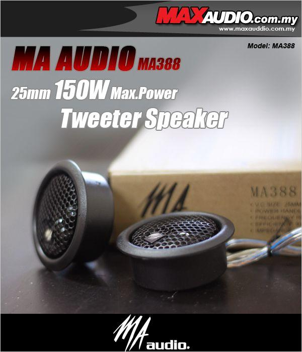 <B>MA AUDIO [MA388] 25mm 150W Max.Power Tweeter Speaker </B>