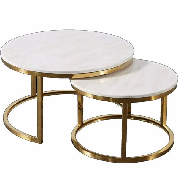 Round mable coffee table