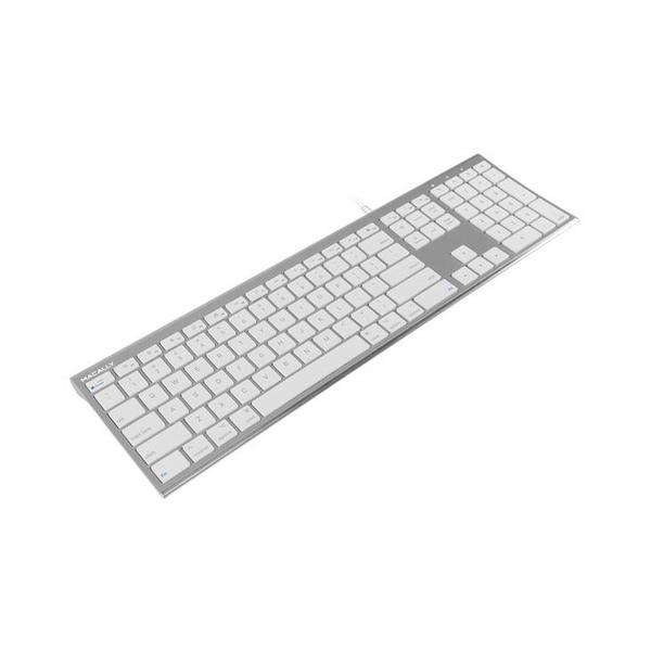 Macally Aluminum Ultra Slim USB Wired keyboard for Mac and PC