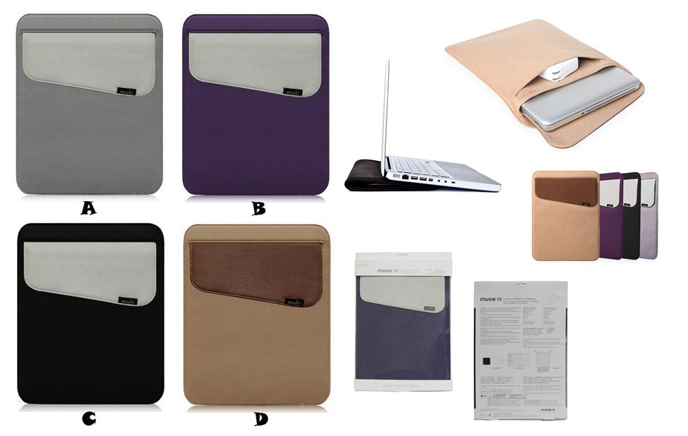 release date 35807 9541f MacBook Air Pro 13 13.3 MOSHI MUSE Microfiber Sleeve Bag Case Cover
