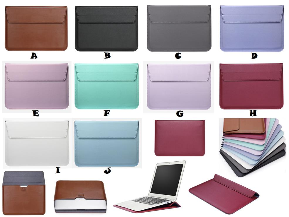 outlet store 4bae1 7f4f5 MacBook Pro 13 13.3 A1278 Envelope Sleeve Bag Leather Stand Case Cover