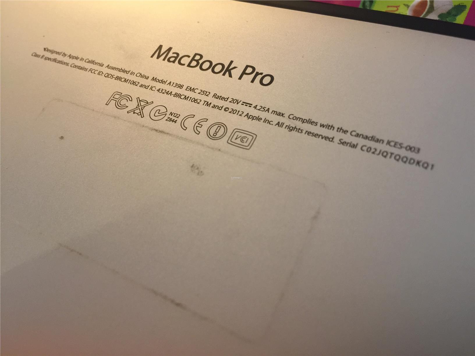 apple macbook pro 2012 serial number