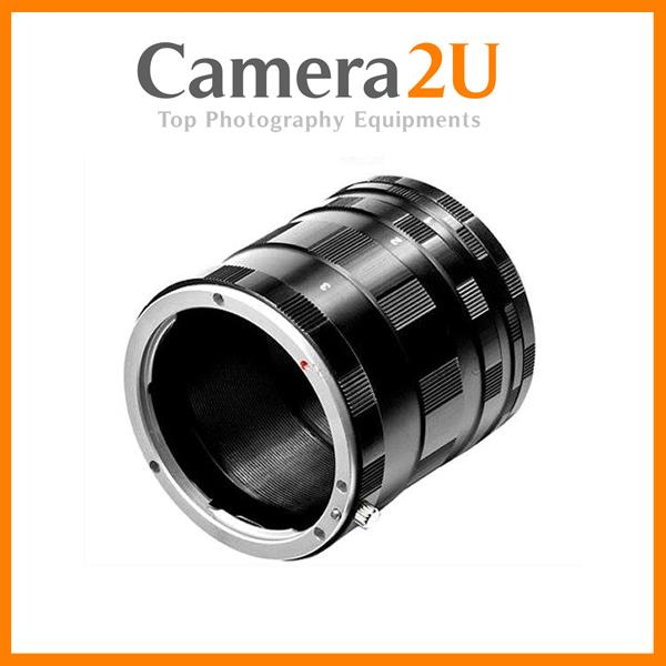New Macro Extension Tubes Lens Adapter for Nikon & Canon DSLR Camera