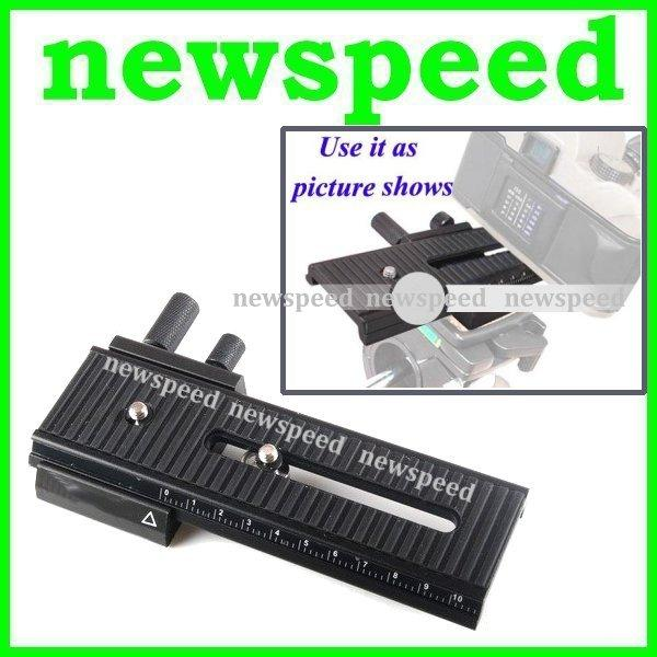 New Macro Photograph Focusing Rail Slider 2 Way Fine Control 160mm