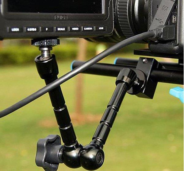 Magic Arm 11 inch Articulating Arm LED Video Light Holder Arm