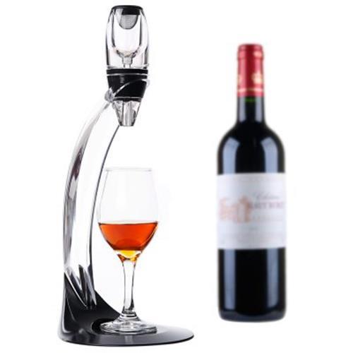Magic Led Wine Aerator Set Deluxe Essential Decanter Gift Box Black